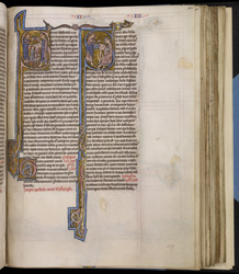 Historiated Initial With Sts. Peter And John, In 'The Bible Of Robert De Bello'